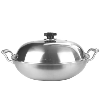 JBM6003 Stainless Steel Semi - Transparent Frying Pan